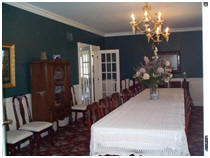 Formal Dining Room at Victorian Veranda Inn Bed and Breakfast .